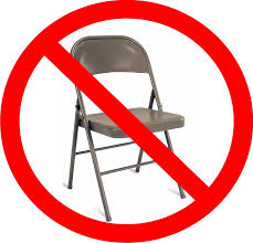 no chairs