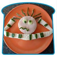 creatief eten - versierde boterham